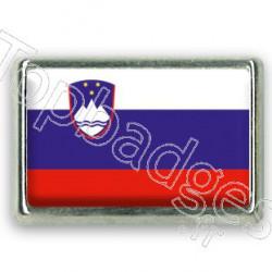 Pins chromé drapeau de Slovénie