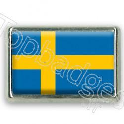 Pins chromé drapeau de Suède