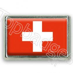 Pins chromé drapeau de Suisse