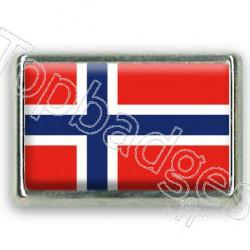 Pins chromé drapeau de Norvège