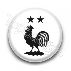 Badge Coq Foot 2 étoiles