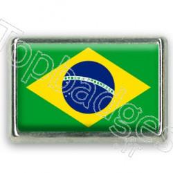 Pins chromé drapeau du Brésil