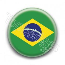 Badge drapeau Brésil