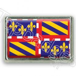 Pins rectangle : Drapeau Bourgogne