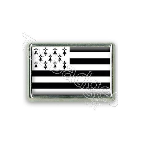 Pins chromé drapeau de Bretagne