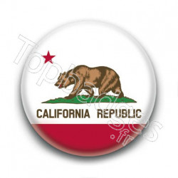 Badge Drapeau de la Californie