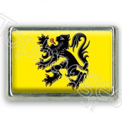 Pins rectangle : Drapeau Flandres