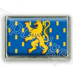 Pins rectangle : Drapeau Franche Comté