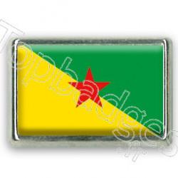 Pins rectangle : Drapeau Guyane