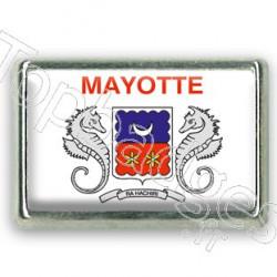 Pins rectangle : Drapeau Mayotte