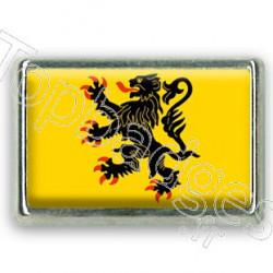 Pins chromé drapeau du Nord-Pas-de-Calais