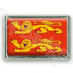 Pins chromé drapeau de Normandie