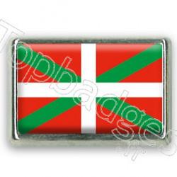 Pins rectangle : Drapeau Basque