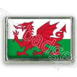 Pins chromé drapeau du Pays de Galles
