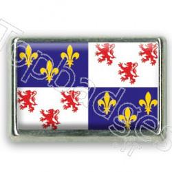 Pins chromé drapeau de Picardie