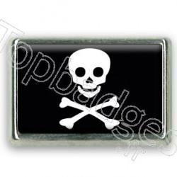 Pins chromé drapeau de Pirate