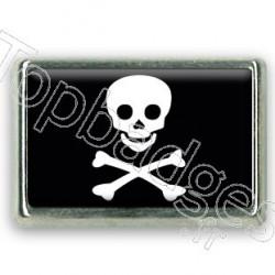 Pins rectangle : Drapeau pirate