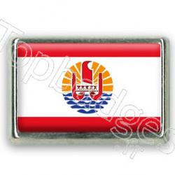 Pins chromé drapeau de Polynésie