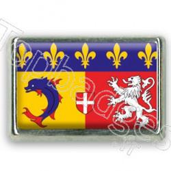 Pins chromé drapeau Rhône-Alpes