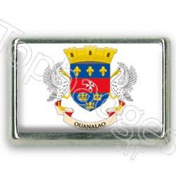 Pins chromé drapeau de Saint Barthélémy