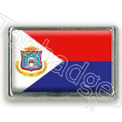 Pins chromé drapeau de Saint Martin