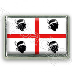 Pins chromé drapeau de la Sardaigne