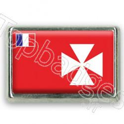 Pins chromé drapeau de Wallis et Futuna