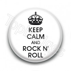 Badge Keep calm & Rock n'roll
