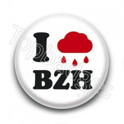 Badge : I love (pluie) BZH