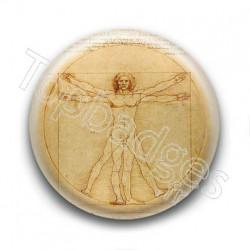 Badge : Léonard de Vinci - Homme de Vitruve