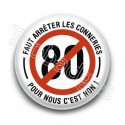 Badge : Limitation 80, Non !