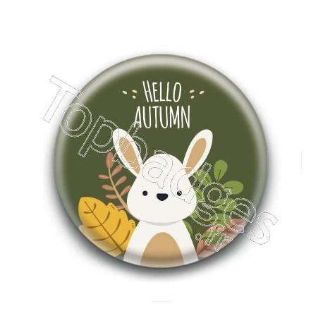 Badge : Hello Autumn, lapin