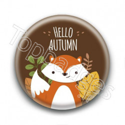 Badge : Hello Autumn, renard