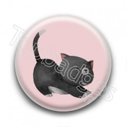 Badge : Chaton noir