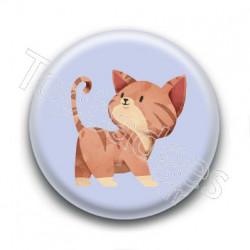 Badge : Chaton roux