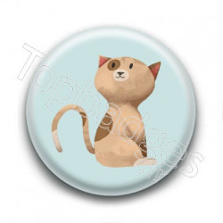Badge : Chaton marron