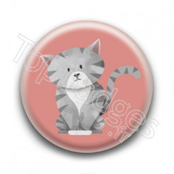 Badge : Chaton tigré