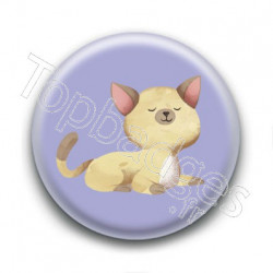Badge : Chaton jaune