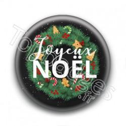 Badge : Joyeux Noël, couronne
