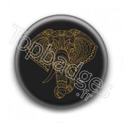 Badge : Eléphant indien
