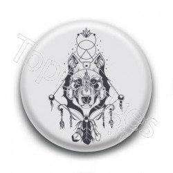 Badge : Loup indien