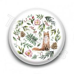Badge : Renard et forêt
