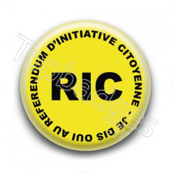 Badge : RIC, Referendum d'Initiative Citoyenne