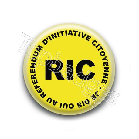 Badge : RIC, Referendum d'Initiative Citoyenne