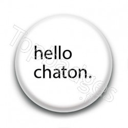 Badge : Hello chaton