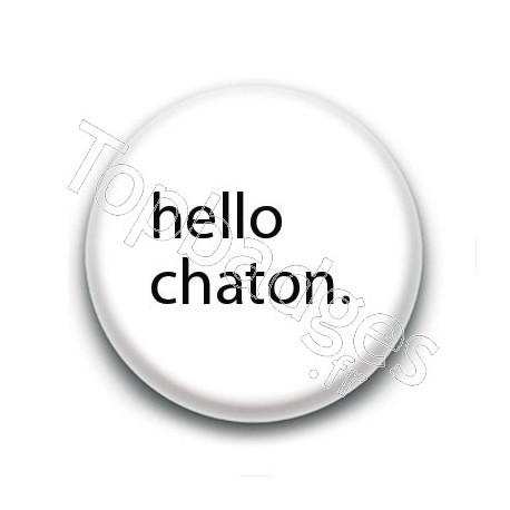 Badge : Hello chaton