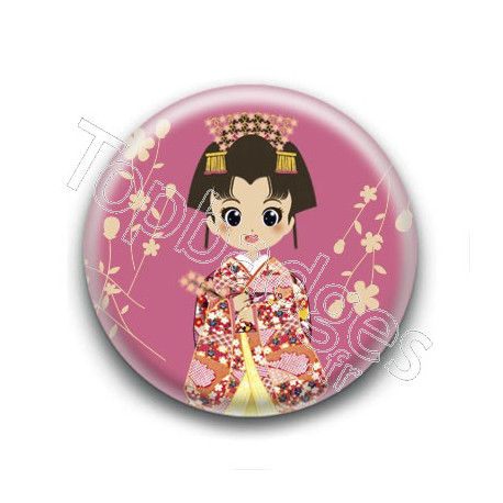 Badge : Japonaise en kimono