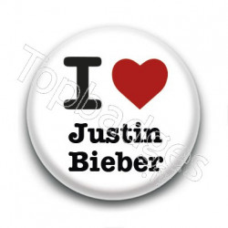 Badge : I Love Justin Bieber