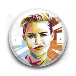 Badge : Graphique, chanteuse Miley Cyrus