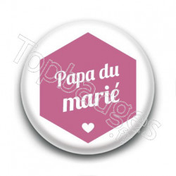Badge : Hexagone rose, Papa du marié